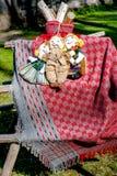 Bonecas em uma cobertura Foto de Stock Royalty Free