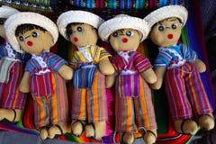 Bonecas guatemaltecas da preocupação Fotografia de Stock