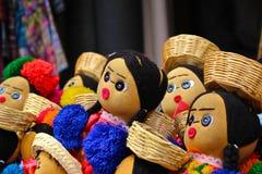 Bonecas guatemaltecas de pano Fotografia de Stock