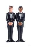Bonecas homossexuais do casamento isoladas imagens de stock royalty free