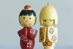 Bonecas japonesas bonitos Imagens de Stock Royalty Free