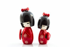 Bonecas japonesas do kokeshi Imagem de Stock