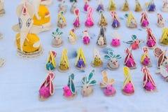 Bonecas, trabalho de arte, artesanatos indianos justos em Kolkata Foto de Stock Royalty Free