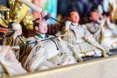 Bonecas tradicionais japonesas foto de stock