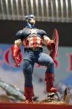Boneco de ação do capitão América Imagens de Stock