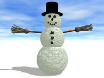 Boneco de neve ilustração royalty free