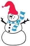 Boneco de neve Ilustração do Vetor