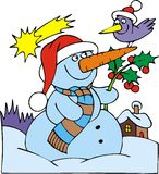 Boneco de neve agradável Foto de Stock