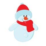 Boneco de neve bonito dos desenhos animados Imagem de Stock Royalty Free