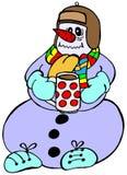 Boneco de neve com gripe Imagem de Stock Royalty Free
