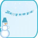 Boneco de neve da bandeira Fotos de Stock Royalty Free