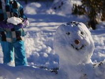 Boneco de neve da construção Fotos de Stock Royalty Free
