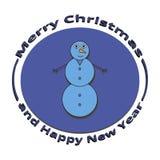 Boneco de neve da imagem no Natal e no ano novo Fotos de Stock Royalty Free