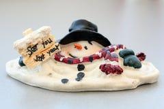 Boneco de neve de derretimento Fotos de Stock