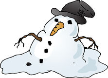 Boneco de neve de derretimento Fotografia de Stock Royalty Free