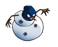 Boneco de neve de Gangsta Fotos de Stock