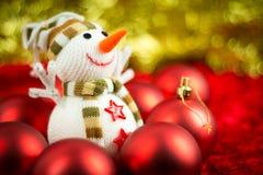 Boneco de neve de lãs Imagem de Stock