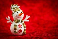 Boneco de neve de lãs Fotografia de Stock
