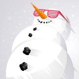 Boneco de neve de refrigeração! Fotos de Stock