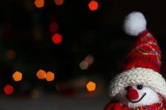 Boneco de neve de sorriso Fotografia de Stock Royalty Free