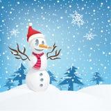 Boneco de neve de sorriso Imagem de Stock
