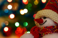 Boneco de neve de sorriso Imagens de Stock