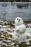 Boneco de neve de sorriso Foto de Stock