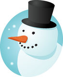 Boneco de neve de sorriso Foto de Stock Royalty Free