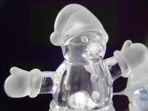 Boneco de neve de vidro Fotos de Stock