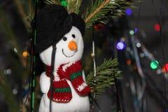 Boneco de neve do brinquedo do Natal imagens de stock