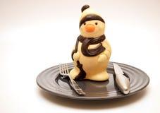 Boneco de neve do chocolate Foto de Stock