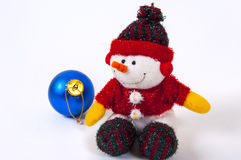 Boneco de neve do docoration do Natal Imagem de Stock Royalty Free