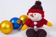 Boneco de neve do docoration do Natal Fotos de Stock