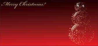 Boneco de neve do Feliz Natal Fotos de Stock