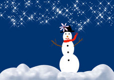 Boneco de neve do inverno ilustração royalty free