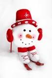 Boneco de neve do inverno foto de stock