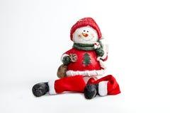 Boneco de neve do inverno Imagem de Stock Royalty Free