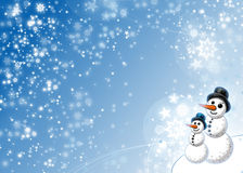 Boneco de neve do inverno do Xmas Ilustração Royalty Free