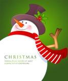 Boneco de neve do Natal com lenço vermelho Fotos de Stock