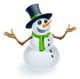 Boneco de neve do Natal do divertimento Fotos de Stock Royalty Free