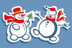Boneco de neve dois Fotos de Stock