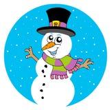Boneco de neve dos desenhos animados Imagens de Stock