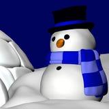Boneco de neve e Igloo 3 Imagem de Stock
