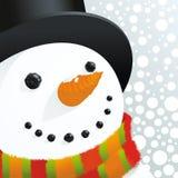 Boneco de neve e neve Foto de Stock