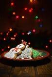 Boneco de neve e outras cookies Fotografia de Stock Royalty Free