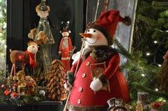 Boneco de neve e sua mágica imagem de stock royalty free