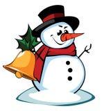 Boneco de neve em um chapéu Fotos de Stock