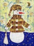 Boneco de neve em um revestimento Imagens de Stock Royalty Free