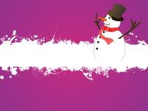 Boneco de neve engraçado Ilustração do Vetor