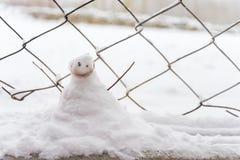 Boneco de neve engraçado Imagens de Stock Royalty Free